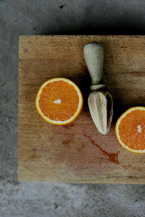Fresh-squeezed orange juice is an ingredient in the vegan dessert, Dilip's Orangey Rice Pudding.