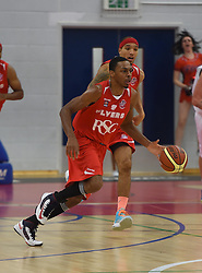 Bristol Flyers' Doug Herring Jr on the attack against Cheshire Phoenix at SGS Wise Arena - Photo mandatory by-line: Paul Knight/JMP - Mobile: 07966 386802 - 15/11/2014 - SPORT - Football - Bristol - SGS Wise Arena - Bristol Flyers v Cheshire Phoenix - Bristol Basketball League