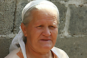 Albania Portrait of a mature Albanian woman