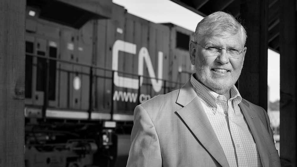 Annual report portrait for Ducks Unlimited. Past CEO of CNRail