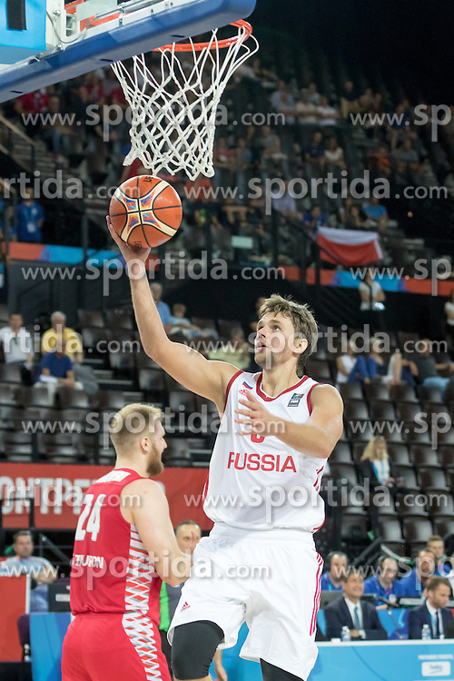 06.09.2015, Park Suites Arena, Montpellier, FRA, Russland vs Polen, Gruppe A, im Bild EGOR VYALTSEV (9) // during the FIBA Eurobasket 2015, group A match between Russia and Poland at the Park Suites Arena in Montpellier, France on 2015/09/06. EXPA Pictures &copy; 2015, PhotoCredit: EXPA/ Newspix/ Pawel Pietranik<br /> <br /> *****ATTENTION - for AUT, SLO, CRO, SRB, BIH, MAZ, TUR, SUI, SWE only*****