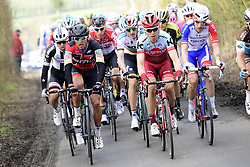 March 25, 2018 - Wevelgem, BELGIQUE - WEVELGEM, BELGIUM - MARCH 25 : VAN AVERMAET Greg  (BEL)  of BMC Racing Team and MARTIN Tony  (GER)  of Team Katusha Alpecin in action during the Flanders Classics 80th Gent - Wevelgem - In Flanders Fields cycling race with start in Deinze and finish in Wevelgem on March 25, 2018 in Wevelgem, Belgium, 25/03/2018 (Credit Image: © Panoramic via ZUMA Press)