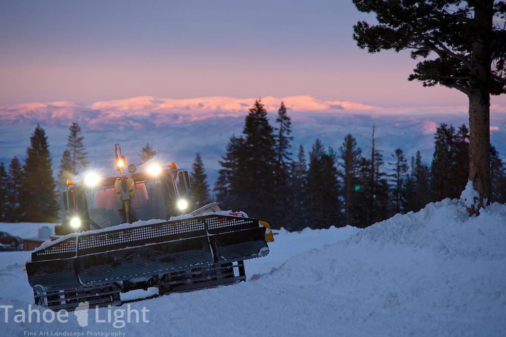 Night terrain park at Mt. Rose Ski Tahoe.