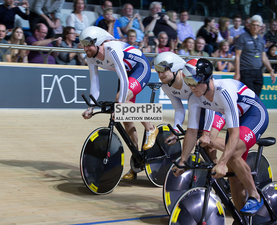 The GB Men's team at the start of the Revoultion Series 2015/6 Round 1 Derby, Day 1, on 14 August 2015 ( (Photo by Mike Poole - Photopoole)