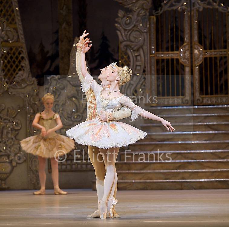 The Nutcracker<br /> <br /> Choreography by Peter Wright after Lev Ivanov<br /> Music by Tchaikovsky<br /> <br /> The Royal Ballet at the Royal Opera House, Covent Garden, London, Great Britain <br /> <br /> Pre-General Rehearsal <br /> <br /> 7 December 2015 <br /> <br /> Iana Salenko as Sugar Plum Fairy <br /> <br /> Steven McRae as The Prince                  <br /> <br /> <br /> <br /> <br /> <br /> Photograph by Elliott Franks <br /> Image licensed to Elliott Franks Photography Services