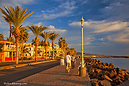 Walking along the waterfront in Loreto Mexico