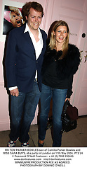 MR TOM PARKER BOWLES son of Camilla Parker Bowles and MISS SARA BUYS, at a party in London on 11th May 2004.PTZ 24