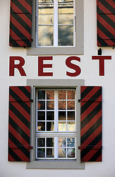 SWITZERLAND BERN 1MAR12 - A restaurant facade at Badgasse at Bern Matte next to the Aare river, Switzerland.....jre/Photo by Jiri Rezac....© Jiri Rezac 2012
