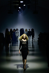 A model presents a creation from local brand SCALO on the third day of Mercedes-Benz Fashion Week Joburg 2016 at Nelson Mandela Square in Johannesburg, South Africa on March 12, 2016. The Mercedes-Benz Fashion Week Joburg 2016, the largest and leading one in Africa, closed here Saturday. Creations by nearly 20 South African fashion designers have been presented in 14 shows of the past three days. EXPA Pictures © 2016, PhotoCredit: EXPA/ Photoshot/ Zhai Jianlan<br /> <br /> *****ATTENTION - for AUT, SLO, CRO, SRB, BIH, MAZ, SUI only*****