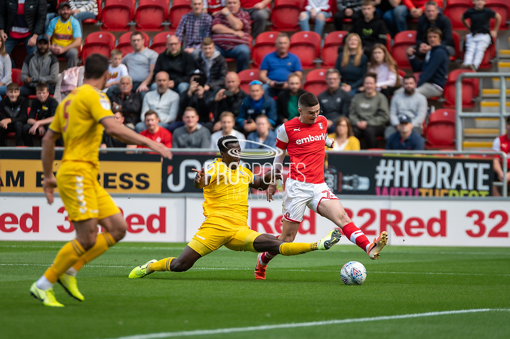 Jake Hastie of Rotherham United during the EFL Sky Bet League 1 match between Rotherham United and Bolton Wanderers at the AESSEAL New York Stadium, Rotherham, England on 14 September 2019.