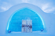 Mid winter colours in -39 degrees C, at the Icehotel, in Jukkasjärvi, Lapland, Laponia, Norrbotten county, Sweden