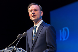 © Licensed to London News Pictures. 06/10/2015. London, UK. CEO of NHS England, SIMON STEVENS speaks at the Institute of Directors (IoD) Annual Convention 2015, held at the Royal Albert Hall in London. Photo credit : Vickie Flores/LNP