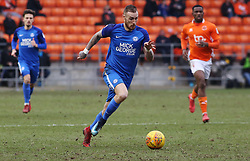 Marcus Maddison of Peterborough United in action against Blackpool - Mandatory by-line: Joe Dent/JMP - 18/02/2018 - FOOTBALL - Bloomfield Road - Blackpool, England - Blackpool v Peterborough United - Sky Bet League One