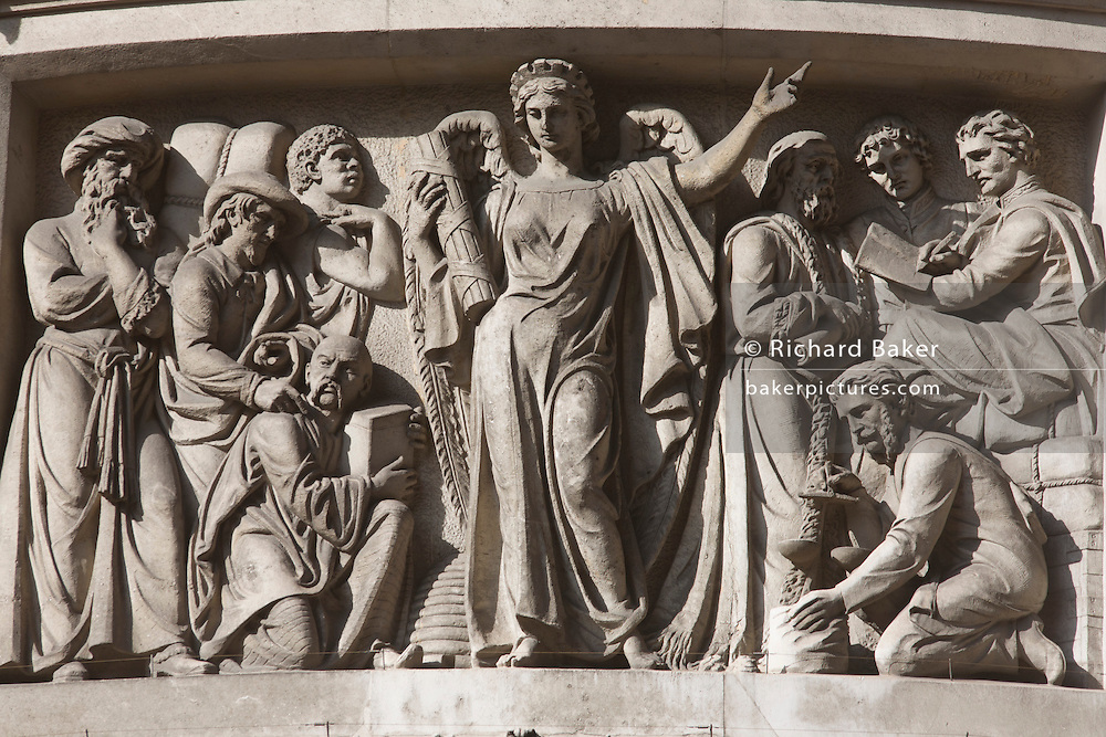 Carvings of ancient times and a former era of finance, business and economy in the heart of the capital's financial district.