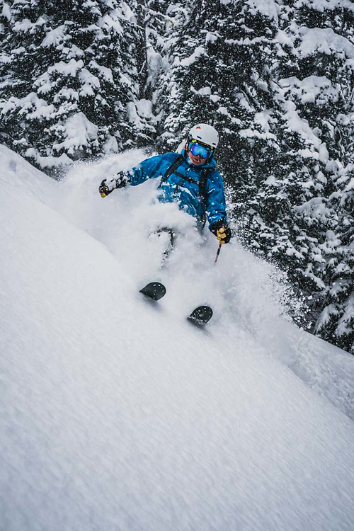 Over 45cm's fell during a 12 hour period at Burnie Glacier, British Columbia, and Hank Wissenz was there.