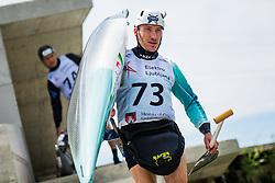 Luka Bozic during the Kayak Single (C1) Men race of Tacen Cup 2020 on May 24, 2020 in Tacen, Ljubljana, Slovenia. Photo By Grega Valancic / Sportida