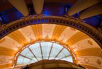 Ceiling of a former palace now shopping mall in Antwerp, Belgium