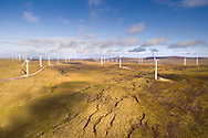 Farr wind farm consists of 40 wind turbines in the Scottish highlands.