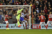 Nottingham Forest goalkeeper Vladimir Stojkovic (38) punches the ball during the EFL Sky Bet Championship match between Nottingham Forest and Queens Park Rangers at the City Ground, Nottingham, England on 5 November 2016. Photo by Jon Hobley.