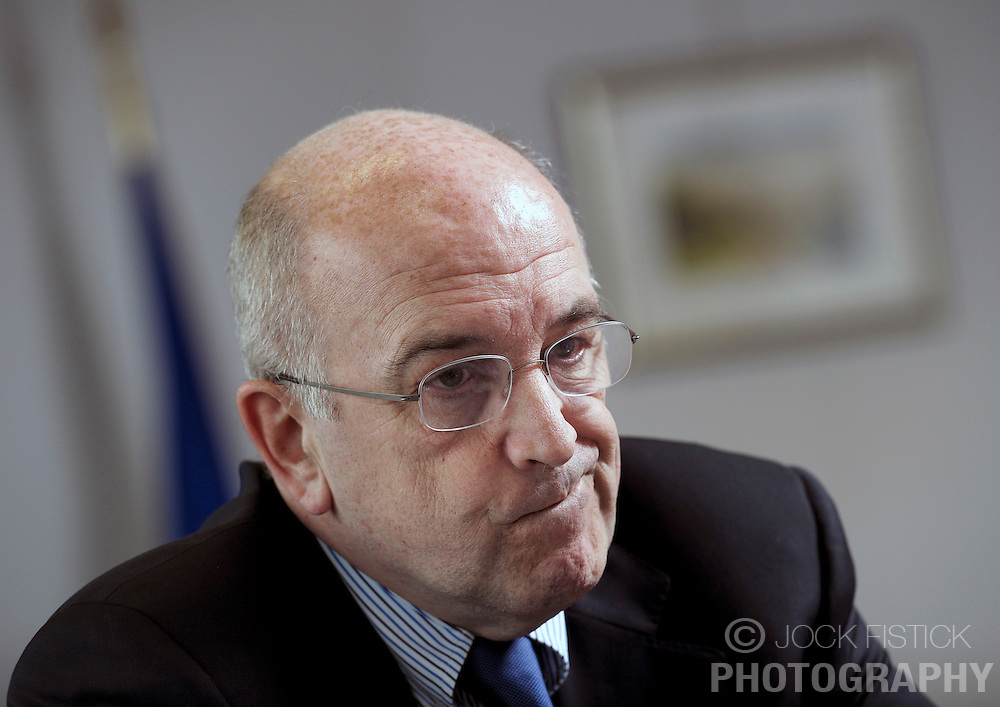 Joaquin Almunia, the EU's competition commissioner, speaks during an interview, in his office, at EU Commission headquarters, on Thursday, Feb. 25, 2010 in Brussels, Belgium. (Photo © Jock Fistick)
