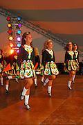 Photo of Irish Dancers on the stage at the Dublin Irish Festival in Dublin, Ohio.