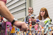 UNITED KINGDOM, London: 23 October 2015 Trading and purchasing at the 2015 MCM London Comic Con which is being held at London's ExCel Arena. The event will be host to more than 110,000 comic con fans and cosplay enthusiasts over the weekend. Rick Findler / Story Picture Agency
