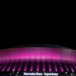 October 23, 2011; New Orleans, LA, USA; A general view outside of the Mercedes-Benz Superdome following 62-7 win by the New Orleans Saints against the Indianapolis Colts. Mandatory Credit: Derick E. Hingle-US PRESSWIRE / © Derick E. Hingle 2011