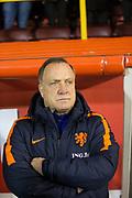 9th November 2017, Pittodrie Stadium, Aberdeen, Scotland; International Football Friendly, Scotland versus Netherlands; Holland coach Dick Advocaat