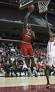 Western Kentucky Hilltoppers forward Dwight Coleby (22) shoots the ball against the Southern California Trojans the first half during an NCAA college basketball game in the second round of the NIT tournament in Los Angeles, Monday, Mar 19, 2018. WKU defeated USC 79-75.