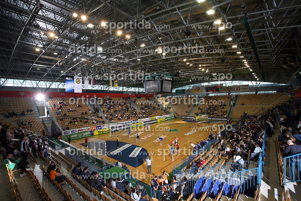 Arena Zlatorog at handball match RK Cimos Koper vs RK Gold Club in final of Slovenian Handball Cup, on March 30, 2008 in Celje, Slovenia. Cimos Koper won the game 30:25 and became the Winner of Slovenian Cup. (Photo by Vid Ponikvar / Sportal Images).