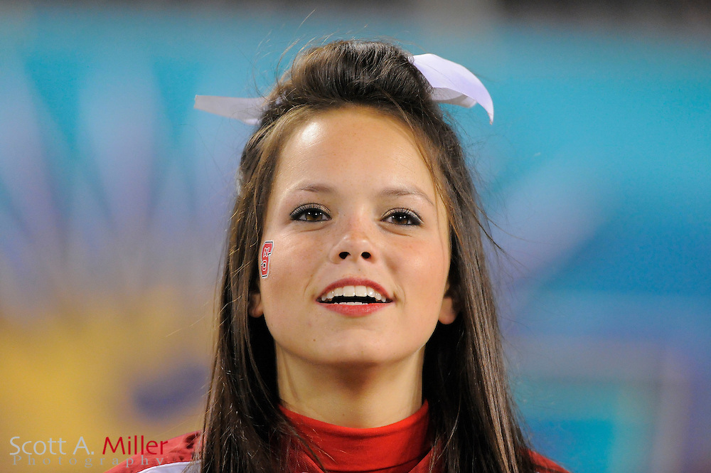 North Carolina State Wolfpack cheerleader during the Wolfpack's 23-7 win over the West Virginia Mountaineers in the 2010 Champs Sports Bowl at the Citrus Bowl on Dec. 28, 2010 in Orlando, Florida...©2010 Scott A. Miller