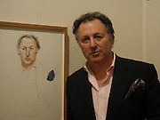 Danny Katz, David Hockney exhibition opening, Annely Juda Gallery. 15 January 2003. © Copyright Photograph by Dafydd Jones 66 Stockwell Park Rd. London SW9 0DA Tel 020 7733 0108 www.dafjones.com