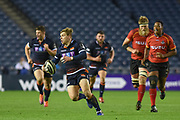 Nathan Fowles on the break during the Guinness Pro 14 2018_19 match between Edinburgh Rugby and Southern Kings at BT Murrayfield Stadium, Edinburgh, Scotland on 5 January 2019.