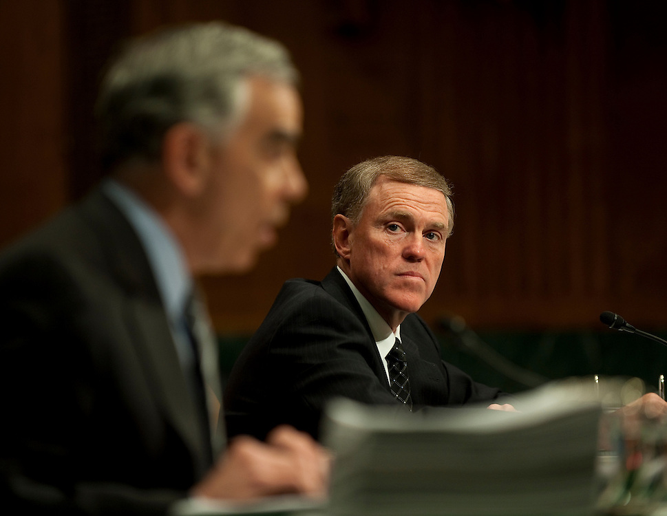"Apr 13,2010 - Washington, District of Columbia USA -.The Senate Investigations Subcommittee hearing on ""Wall Street and the Financial Crisis: The Role of High Risk Home Loans.""..Pictured:.Stephen Rotella, former president and COO .Kerry Killinger, former president, CEO and chairman of the board of Washington Mutual Bank testify.(Credit Image: © Pete Marovich/ZUMA Press)"