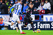 Richarlison of Everton (30) in action during the Premier League match between Huddersfield Town and Everton at the John Smiths Stadium, Huddersfield, England on 29 January 2019.