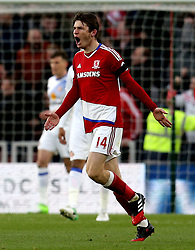 Marten de Roon of Middlesbrough celebrates scoring a goal - Mandatory by-line: Robbie Stephenson/JMP - 26/04/2017 - FOOTBALL - Riverside Stadium - Middlesbrough, England - Middlesbrough v Sunderland - Premier League