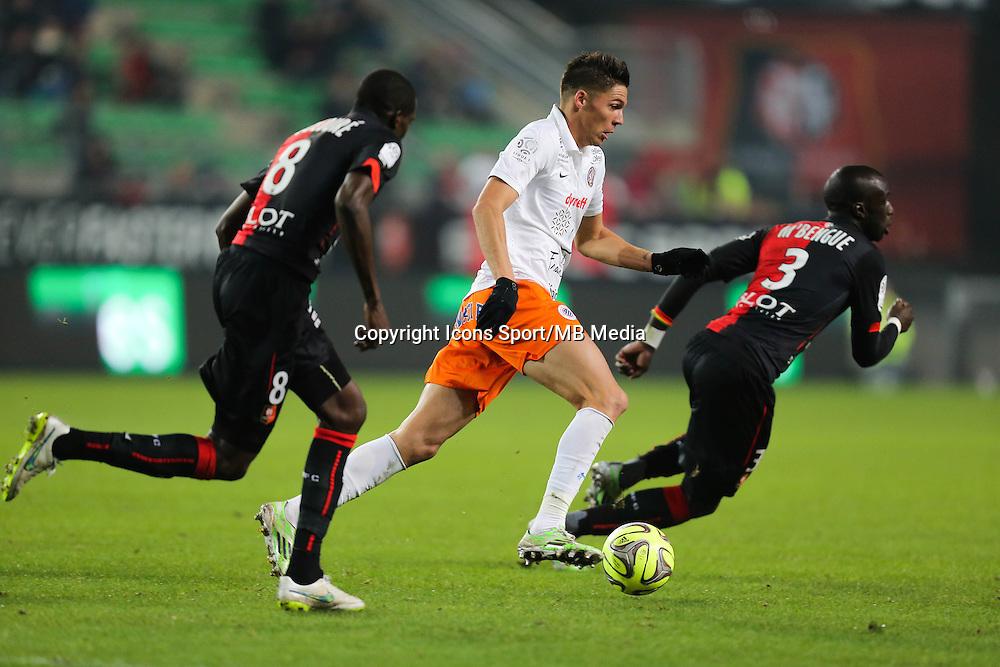 Jonas MARTIN - 06.12.2014 - Rennes / Montpellier - 17eme journee de Ligue 1 -<br />Photo : Vincent Michel / Icon Sport