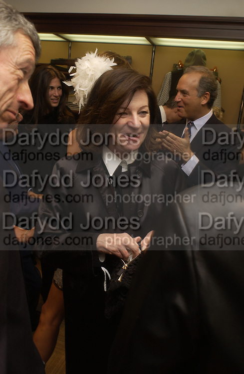 Josephine Hart ( Josephine Saatchi) Charles Finch and Dr. Franco Beretta host launch of Beretta stor at 36 St. James St. London. 10  January 2006. ONE TIME USE ONLY - DO NOT ARCHIVE  © Copyright Photograph by Dafydd Jones 66 Stockwell Park Rd. London SW9 0DA Tel 020 7733 0108 www.dafjones.com