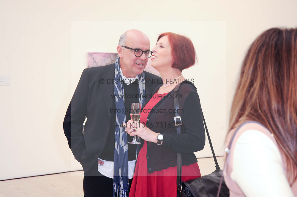 CLARE ANDERSON and ANTONIO CARVALHO at the BRIC art sale preview (Brazil, Russia, India & China, the acronym BRIC here refers to the burgeoning contemporary art practices within these four countries.) organised by Phillips de Pury & Company at The Saatchi Gallery, London on 17th April 2010.
