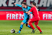 ENSCHEDE - 17-12-2016, FC Twente - AZ, Grolsch Velst Stadion, 1-2, AZ speler Muamer Tankovic, FC Twente speler Dylan Seys (r)
