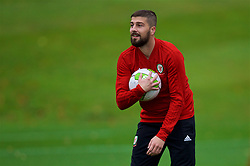 CARDIFF, WALES - Saturday, October 13, 2018: Wales' Kieron Freeman during a training session at the Vale Resort ahead of the UEFA Nations League Group Stage League B Group 4 match between Republic of Ireland and Wales. (Pic by David Rawcliffe/Propaganda)