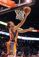Mar. 26 2010; Phoenix, AZ, USA; Phoenix Suns center Louis Amundson (17) puts up a shot in the second half at the US Airways Center.  The Suns defeated the Knicks 132-96.  Mandatory Credit: Jennifer Stewart-US PRESSWIRE.