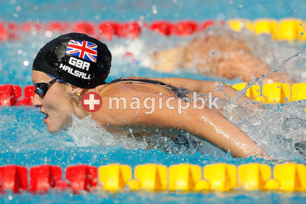 Francesca (Fran) HALSALL of Great Britain competes in the women's 100m Butterfly Heats at the European Swimming Championship at the Hajos Alfred Swimming complex in Budapest, Hungary, Thursday, Aug. 12, 2010. (Photo by Patrick B. Kraemer / MAGICPBK)