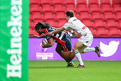 Thretton Palamo of Bristol Rugby scores a try - Rogan Thomson/JMP - 11/12/2016 - RUGBY UNION - Ashton Gate Stadium - Bristol, England - Bristol Rugby v Pau - European Rugby Challenge Cup.