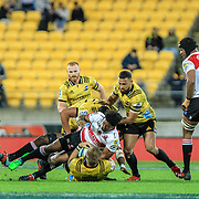 during the Super rugby (Round 12) match played between Hurricanes  v Lions, at Westpac Stadium, Wellington, New Zealand, on 5 May 2018.  Hurricanes won 28-19.