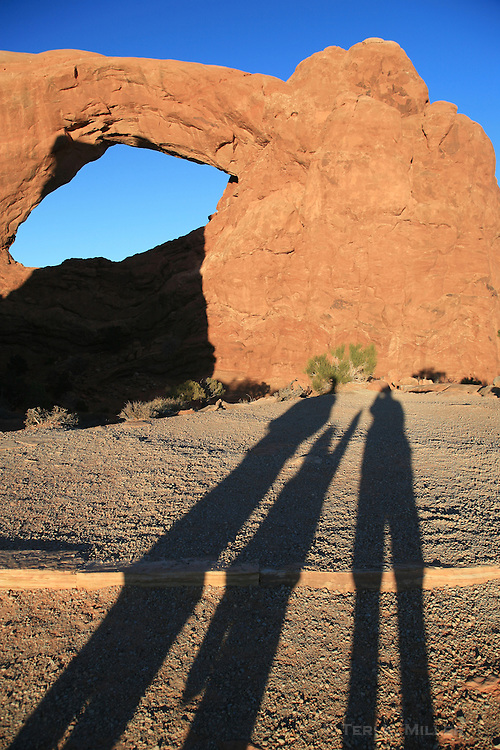 Rock formations at the Windows, Arches National Park, UT