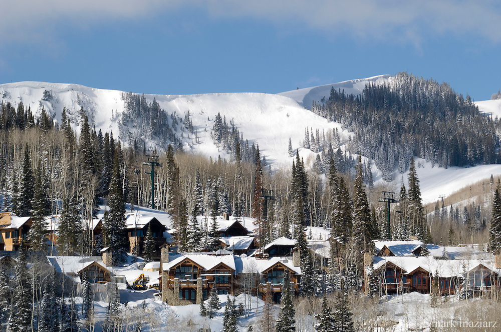 new ski in ski out construction in Empire Canyon at Deer Valley Resort