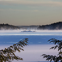 This view of a small island from our cottage on Lake of Bays in Muskoka, Ontario, is constantly changing with the weather, the seasons and even the time of day.
