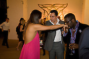 SHANON LI; NICK GOLD; ORLANDO HAMILTON, Quintessentially  Summer arts party with Perier Jouet.  An evening of performance art. Phillips de Pury Gallery. London. 9 July 2008. *** Local Caption *** -DO NOT ARCHIVE-© Copyright Photograph by Dafydd Jones. 248 Clapham Rd. London SW9 0PZ. Tel 0207 820 0771. www.dafjones.com.