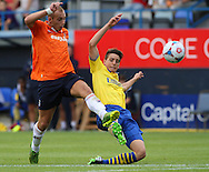 Picture by David Horn/Focus Images Ltd +44 7545 970036<br /> 03/08/2013<br /> Jake Howells of Luton Town Scores during the Friendly match at Kenilworth Road, Luton.
